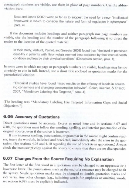 example of long quotation in apa