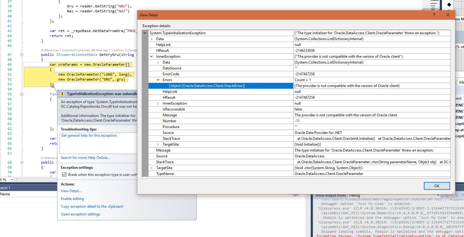 oracle.dataaccess.client example c
