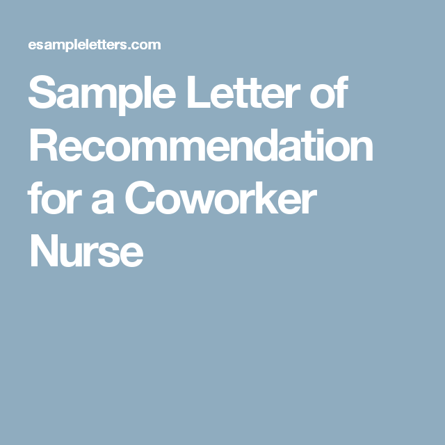 recommendation letter example for employee