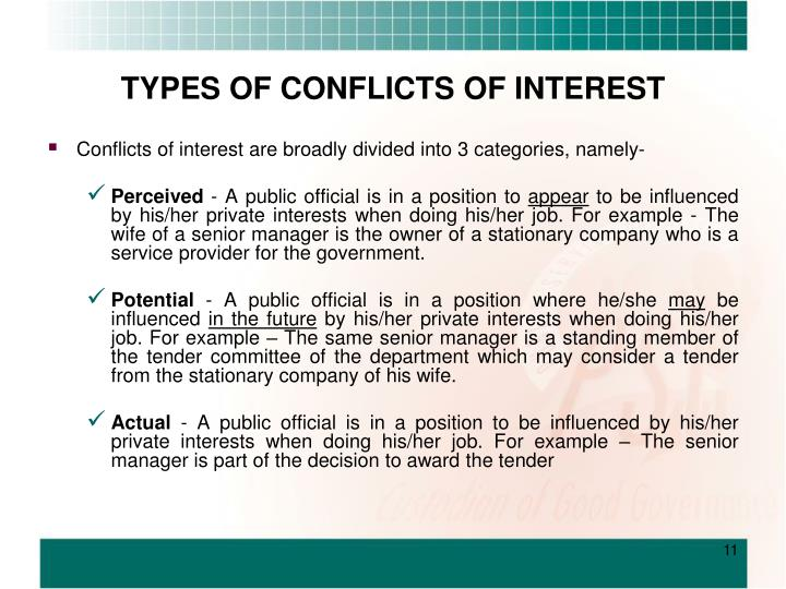 conflict of interest definition and example