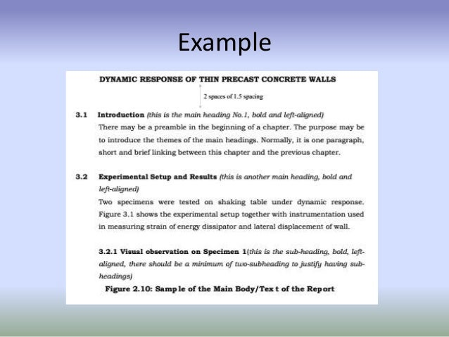 example of final report in technical writing