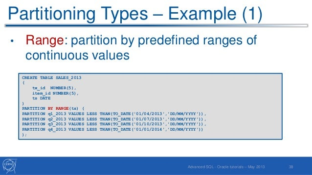 oracle sql over partition by example