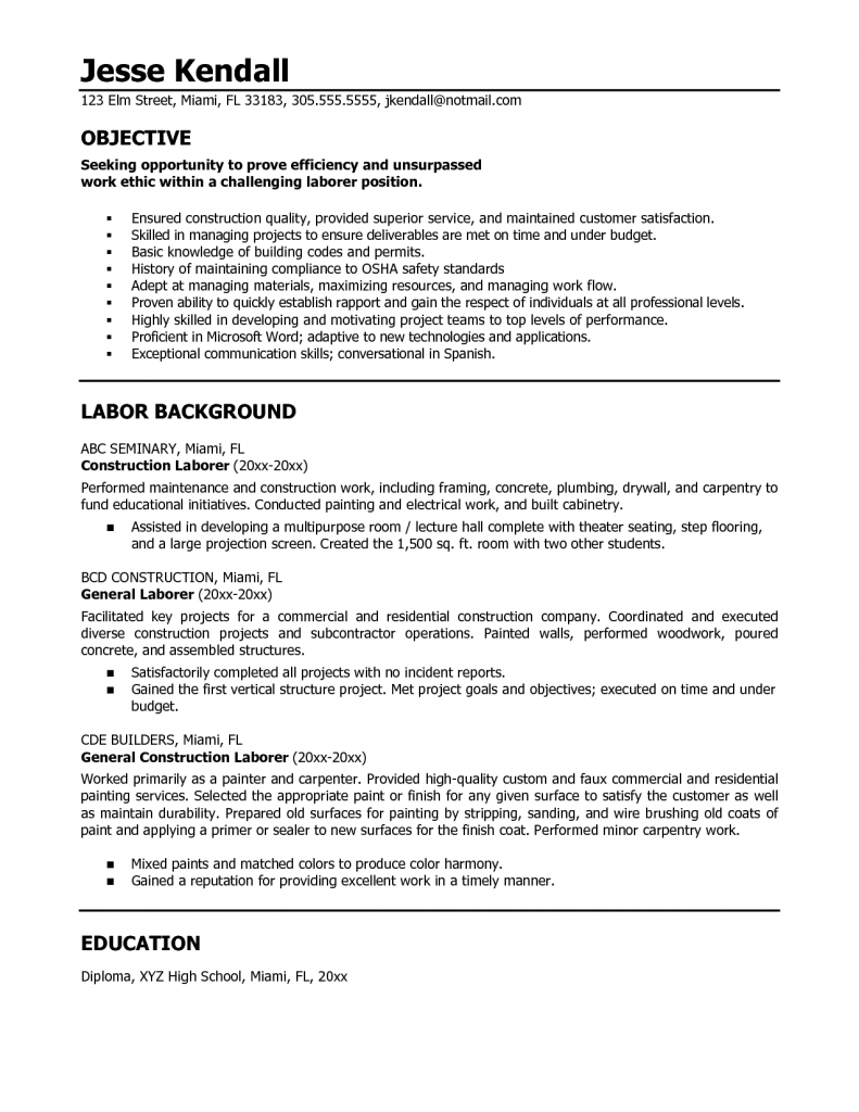 example of good objective statement for resume