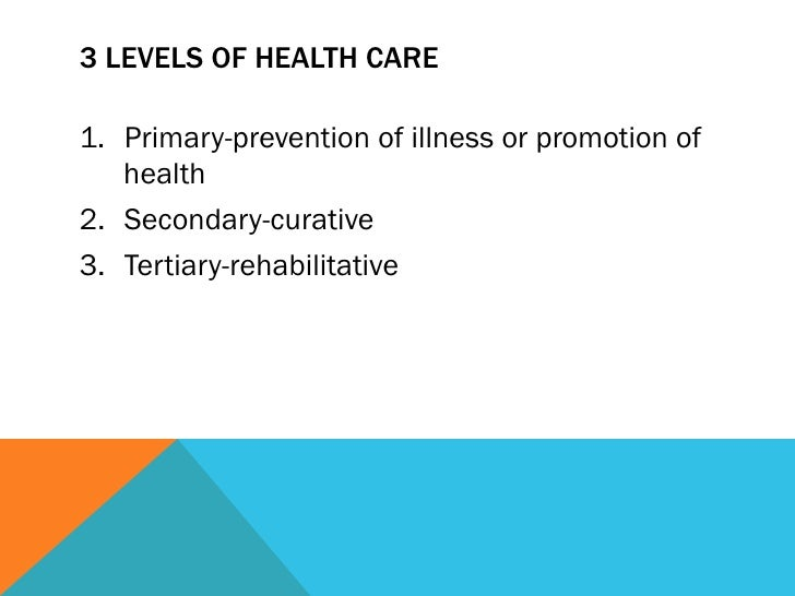 example of secondary prevention in health promotion