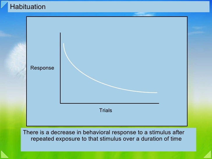 what is an example of habituation learning