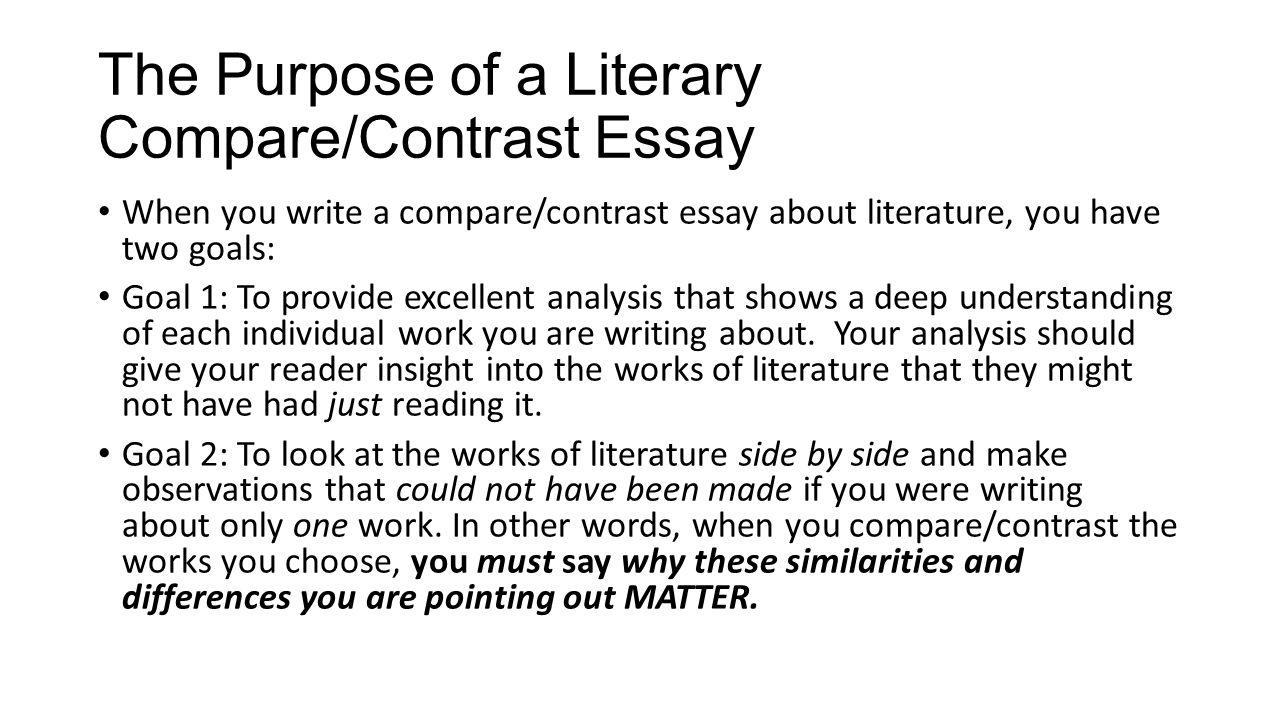 annalytical paper example for contrast