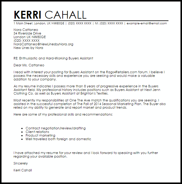 assistant property manager cover letter example or sample