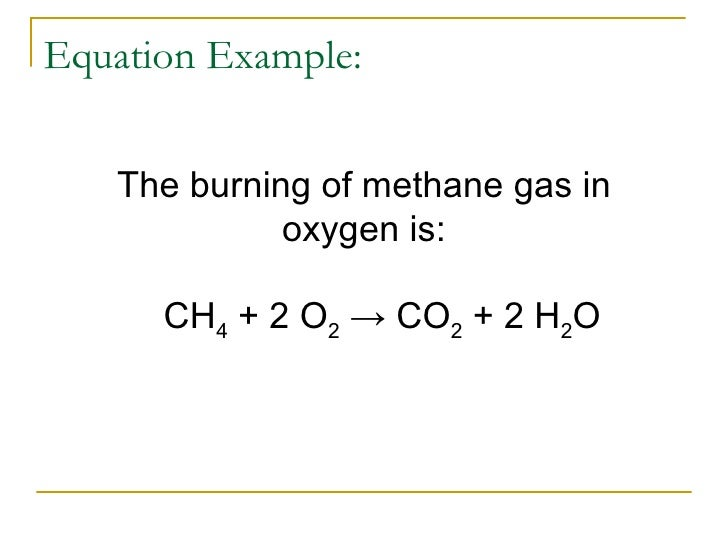 baking chemical equation everyday life example