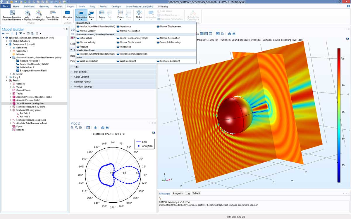 comsol multiphysics mode analysis example