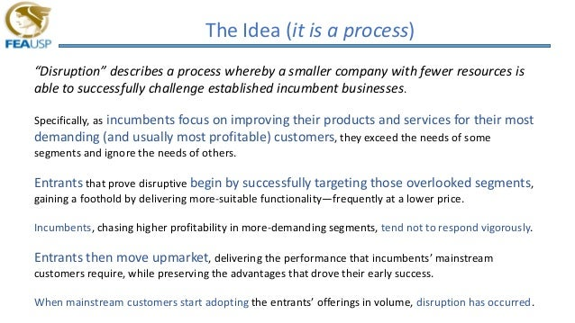 what is an example of disruptive innovation