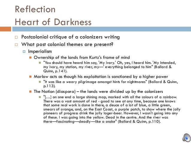 what is an example of sarcasm in heart of darkness